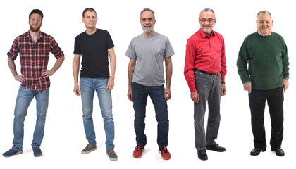 group of men in their thirties.., forties… fifty…sixty…eighty…