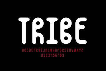 Photo sur Toile Style Boho Tribal style font design, alphabet letters and numbers