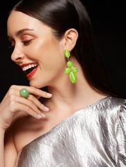 Fashion editorial high quality portrait woman laughing