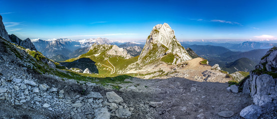 Slowenien Wandern Alpen Berge Natur Panorama Sommer