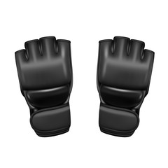 Gloves MMA in the vector.Combat protective gloves vector illustration.
