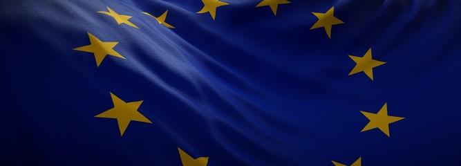 Fototapeta Official flag of European Union. Web Banner obraz