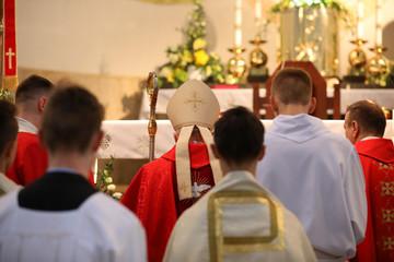 The bishop celebrates the celebration of Confirmation