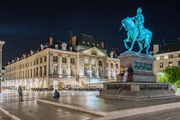 Martroi Square chaired by the statue tribute to Joanna of Arc riding a horse