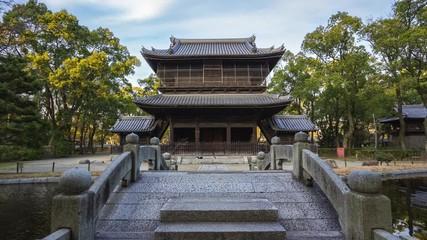 Wall Mural - Summon Gate of Shofukuji Temple time lapse in Fukuoka, Japan