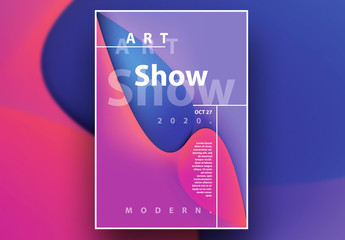 Abstract Contemporary Poster Layout