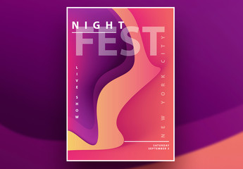 Colorful Abstract Poster Layout