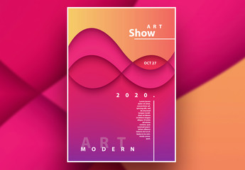 Abstract Vibrant Poster Layout with Gradients