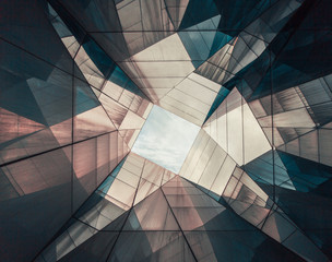 Abstract geometric roof with futuristic design