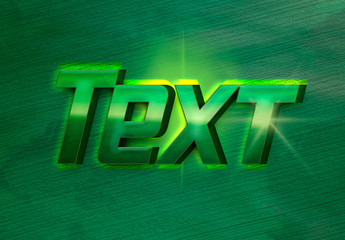 Green Superhero Style Text Effect