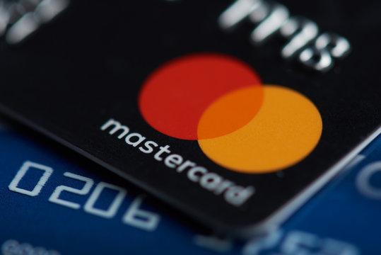 Mastercard plastic electronic card