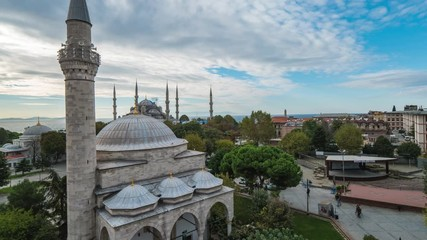 Wall Mural - Istanbul skyline with view of Mosque in Turkey.