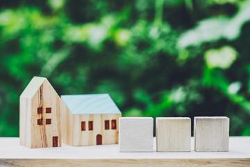 3文字・住宅模型