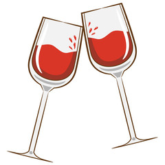wine glass vector clipart