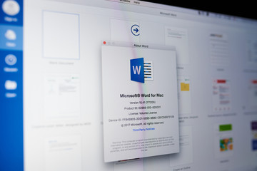 Microsoft word menu