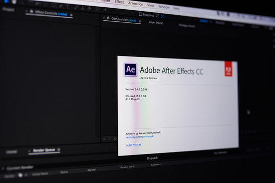 Adobe after effect menu