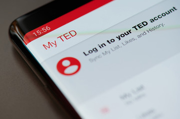 Log in to TED account