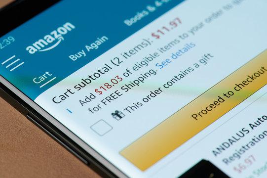 Amazon checkout menu