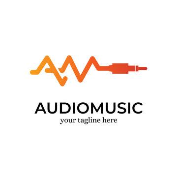 Audio Music Logo Design Template Inspiration - Vector