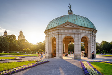 Temple of Diana in the courtyard garden of the Munich Residenz, Bavaria, Germany