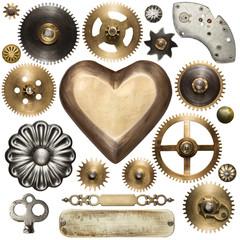 Fototapete - Clockwork parts
