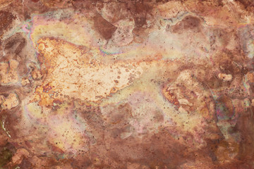 Wall Mural - Old copper texture