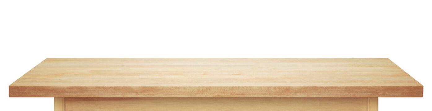 Light wooden tabletop