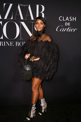 Janelle Monae attends the Harper's Bazaar celebration of 'ICONS By Carine Roitfeld' at The Plaza Hotel during New York Fashion Week in Manhattan