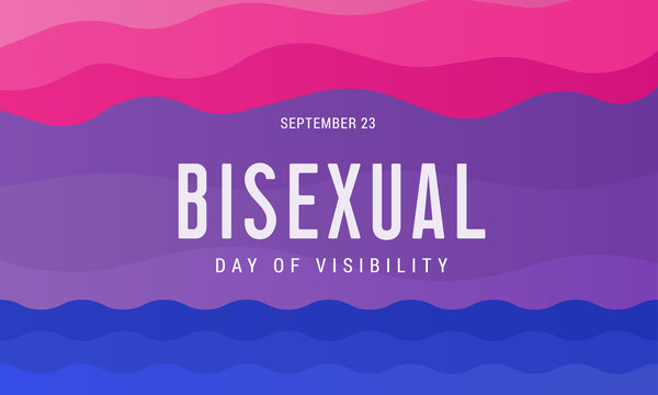 Celebrate Bisexuality Day. September 23 is a bisexual community day. Background, poster, postcard, banner design.