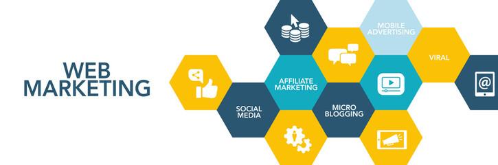 Web Marketing Icon Concept