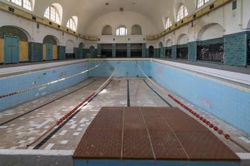 Swimming pool at former historical headquarters barracks,