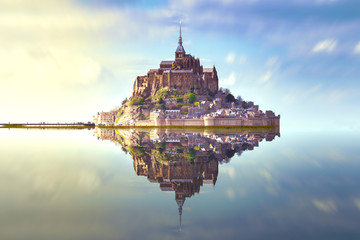 Mont Saint Michel France Fototapete