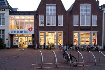 SNEEK, THE NETHERLANDS - NOVEMBER 2, 2018: Bibliotheek Sneek (Library of Sneek)