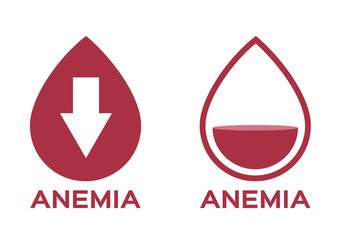 anemia vector . low red blood cell icon