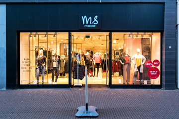 SNEEK, THE NETHERLANDS - NOVEMBER 2, 2018: MS Mode branch. MS Mode is a Dutch fashion retailer operating over 200 stores in the Netherlands, France, Belgium, Spain, and Luxembourg.