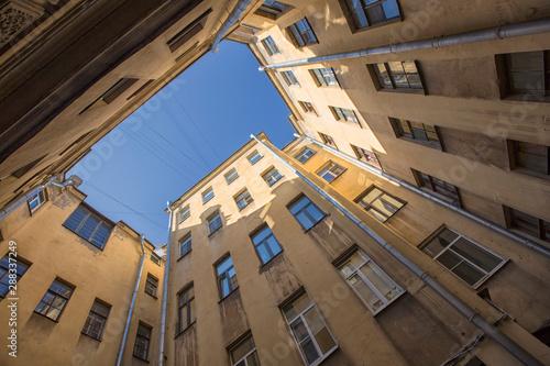 Yard-well in Saint Petersburg, Russia