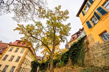Wall Mural - Herbstgarten am Domplatz in Bamberg