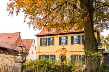 Wall Mural - Historische Gebäude am Domplatz in Bamberg
