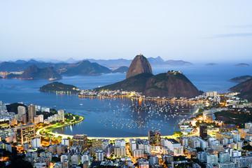 In de dag Rio de Janeiro Sugarloaf mountain in Rio de Janeiro