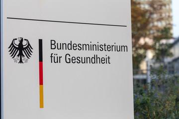 bonn, North Rhine-Westphalia/germany - 19 10 18: german Federal Ministry of health sign bonn germany