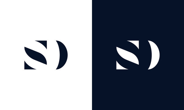 Abstract letter SD logo. This logo icon incorporate with abstract shape in the creative way.