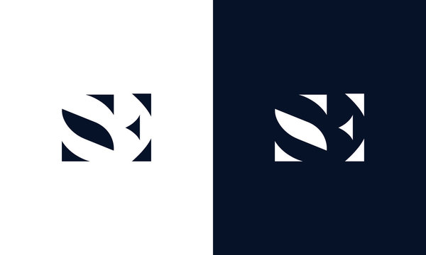 Abstract letter SE logo. This logo icon incorporate with abstract shape in the creative way.