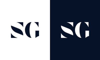 Abstract letter SG logo. This logo icon incorporate with abstract shape in the creative way.