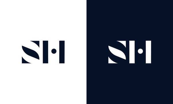 Abstract letter SH logo. This logo icon incorporate with abstract shape in the creative way.