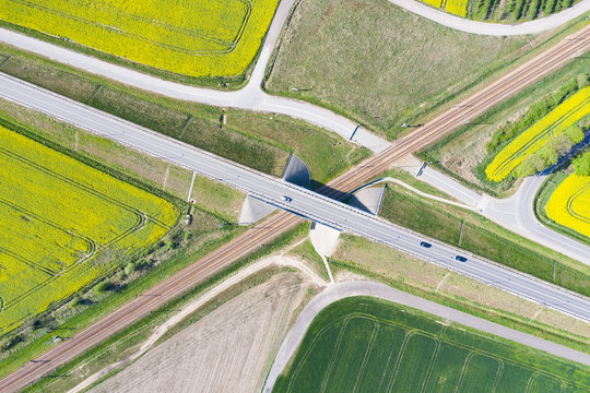 viaduct over railway tracks