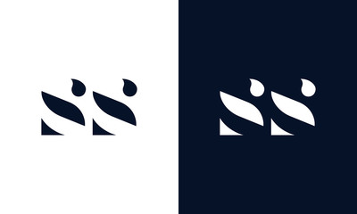 Abstract letter SS logo. This logo icon incorporate with abstract shape in the creative way.