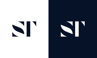 Abstract letter ST logo. This logo icon incorporate with abstract shape in the creative way. Fototapete