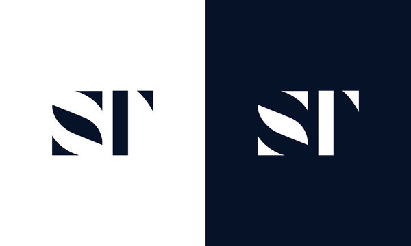 Abstract letter ST logo. This logo icon incorporate with abstract shape in the creative way.