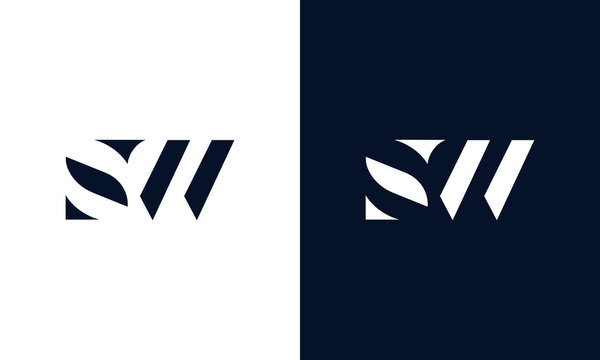 Abstract letter SW logo. This logo icon incorporate with abstract shape in the creative way.