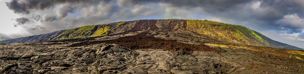 Panorama of Mauna Loa from Chain of Craters Rd in Hawaii